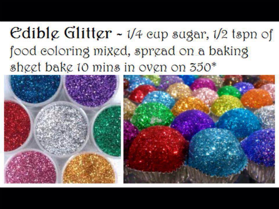 How To Make Edible Glitter With Sugar And Food Coloring