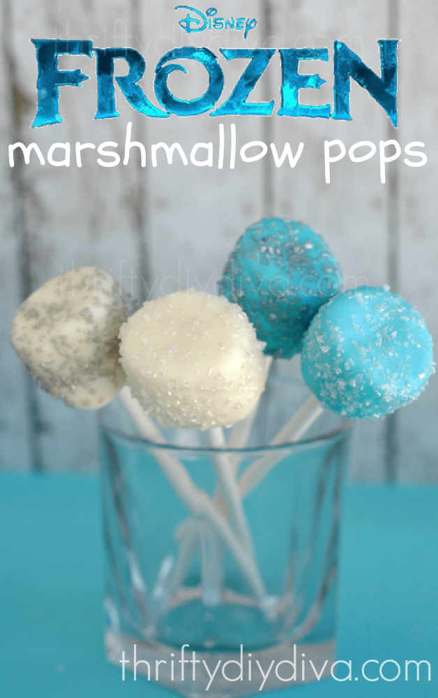 Disney Frozen Recipes Marshmallow Pops