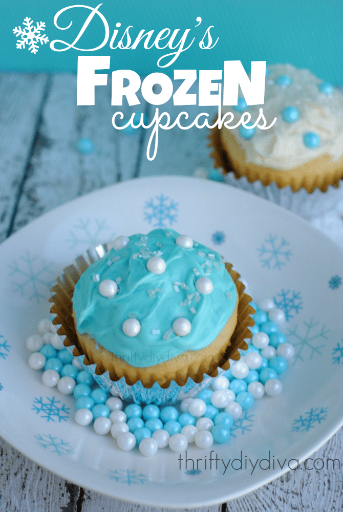 Disney Frozen Cupcakes Recipe