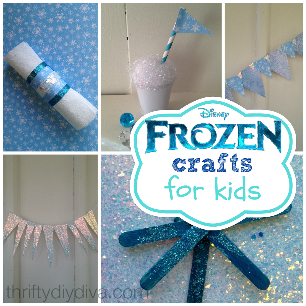 Disney frozen crafts for kids on a budget for Easy crafts to do with kids