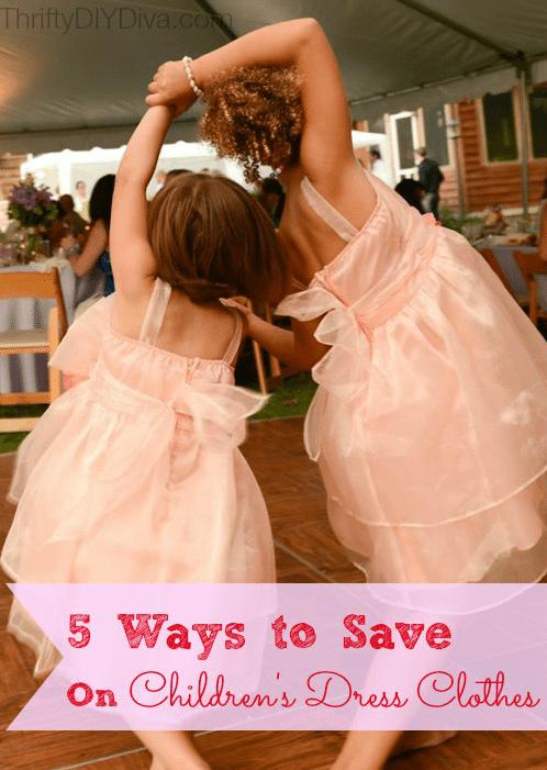 5 Ways to Save Money on Children's Dress Clothes
