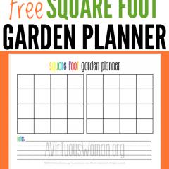 Free Square Foot Garden Planner Printable