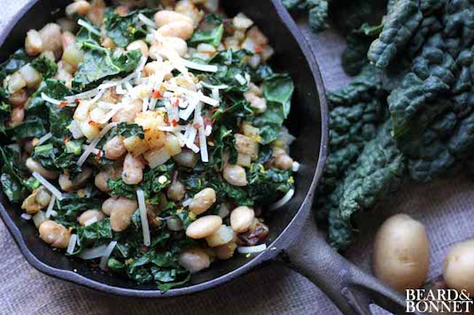 White Bean and Kale Hash