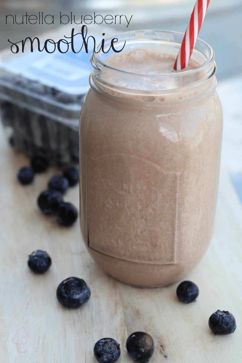 Nutella Blueberry Protein Smoothie
