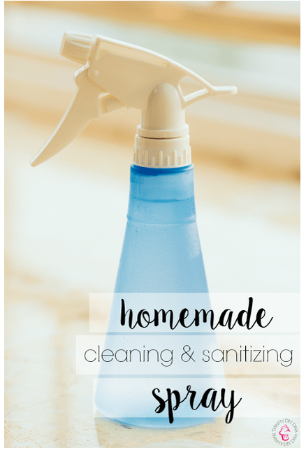 Homemade Cleaning and Sanitizing Spray With Essential Oils