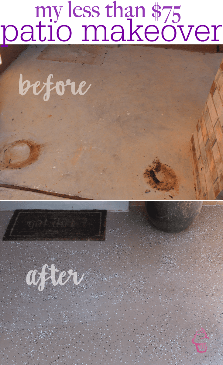 Budget Friendly Frugal Patio Porch Makeover