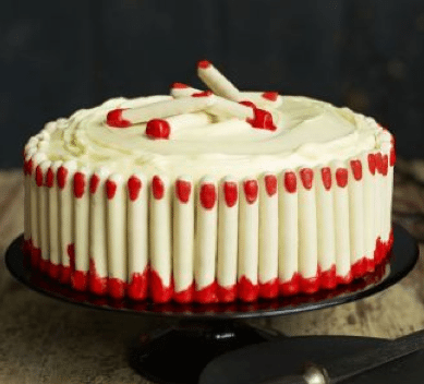 Freaky Fingers Red Velvet Cake