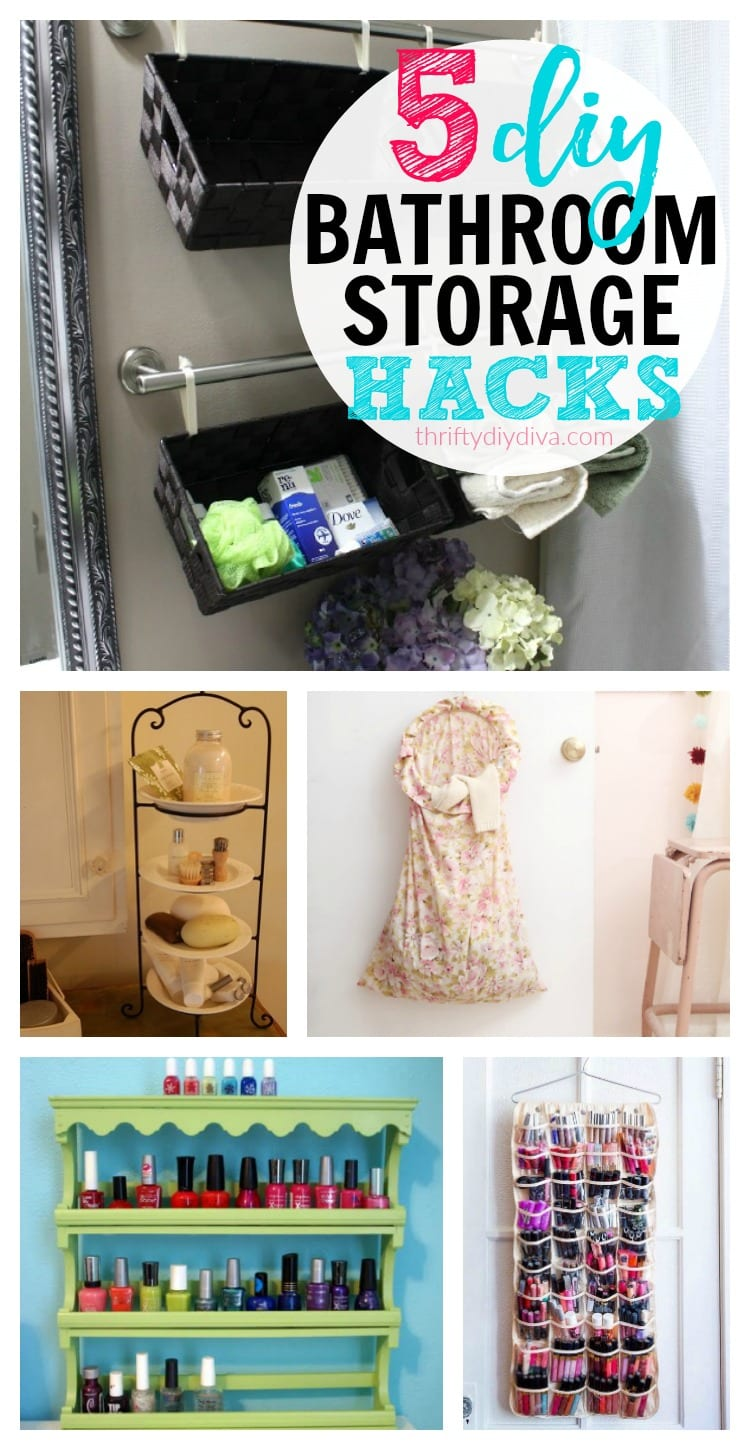 5 cheap diy bathroom storage ideas for Bathroom cheap ideas